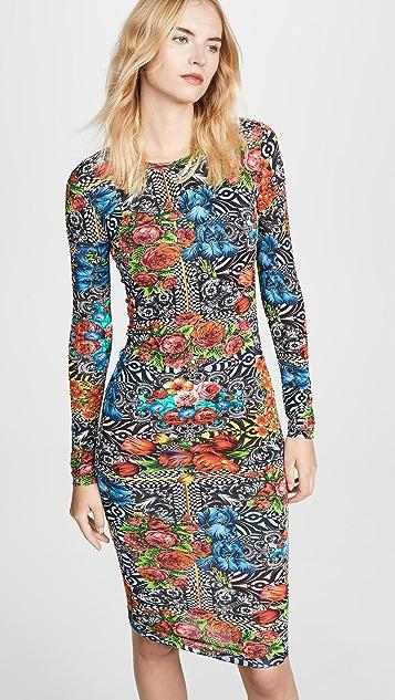 Versace Jeans Couture 中长连衣裙