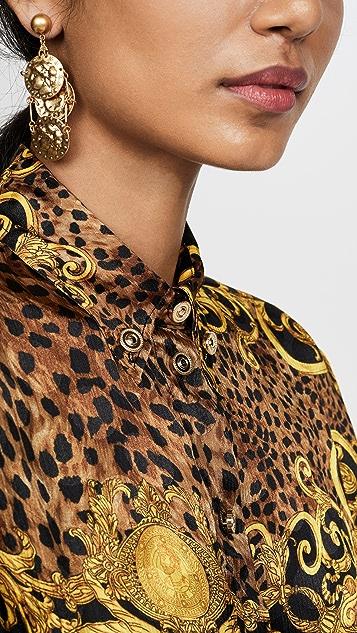Versace Jeans Couture 印花系扣衬衫