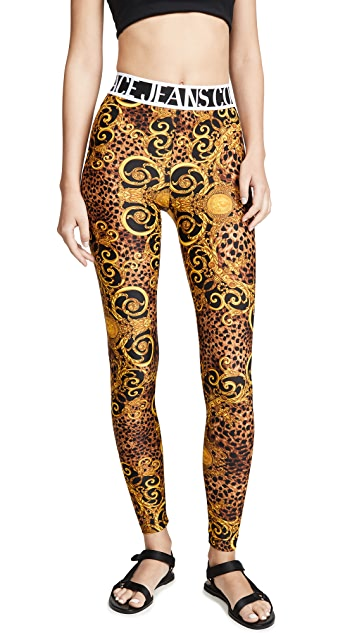 Versace Jeans Couture 印花打底裤