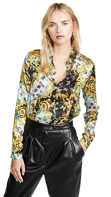 Versace Jeans Couture 花卉印花系扣上衣