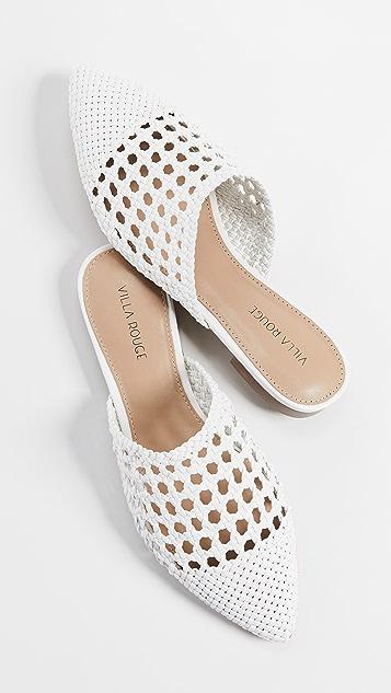 Villa Rouge Stacey 梭织穆勒鞋