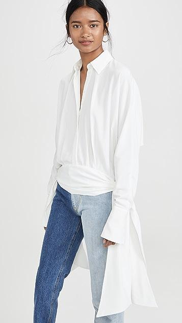 Victoria Victoria Beckham 侧绑带衬衫