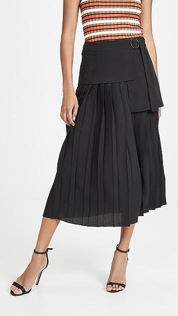 Victoria Victoria Beckham 侧边绑带裥褶半身裙