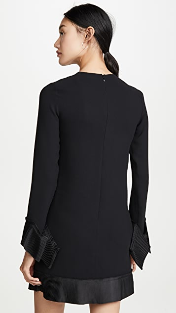 Victoria Victoria Beckham 褶皱细节直筒连衣裙