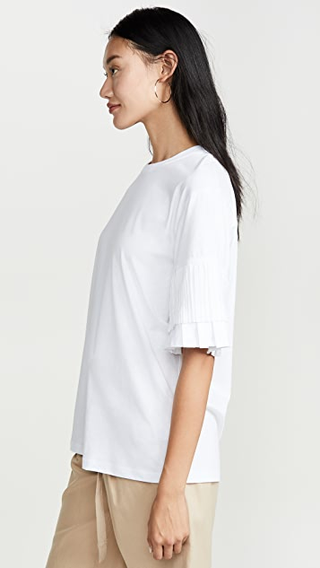 Victoria Victoria Beckham 褶皱袖 T 恤