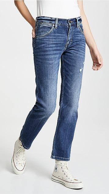 Wrangler 高腰男孩风牛仔裤