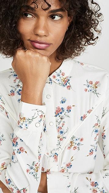 Wrangler 花朵衬衣