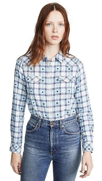 Wrangler 西部风情格纹衬衫