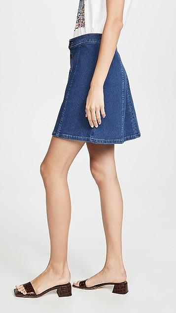 Wrangler 系扣前襟迷你裙