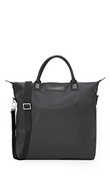 WANT LES ESSENTIELS OHare Nylon Shopper Tote,Black Nylon/Black