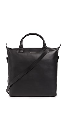 원트 레스 에센셜 OHare 쇼퍼 토트백 블랙 WANT LES ESSENTIELS OHare Leather Shopper Tote,Black