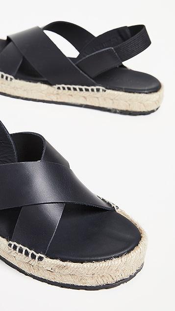 WANT Les Essentiels Niutta 编织底凉鞋