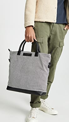 원 레스 에센셜 WANT LES ESSENTIELS OHare Shopper Tote,Black/White