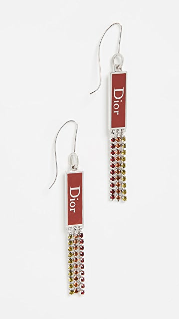 What Goes Around Comes Around Dior 水晶垂坠耳环