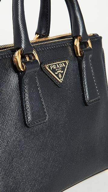 What Goes Around Comes Around Prada Black Exec 托特包微型包