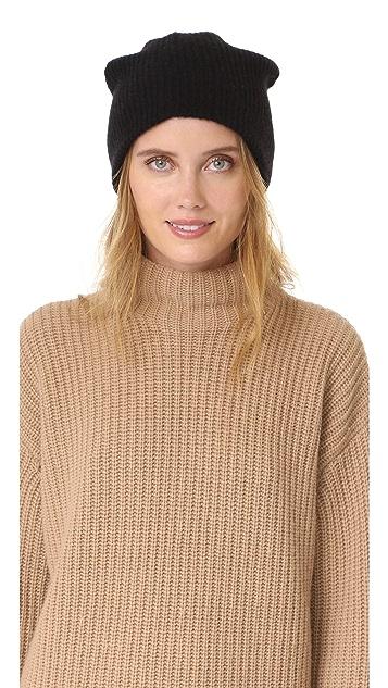 White + Warren 开司米羊绒奢华罗纹针织帽