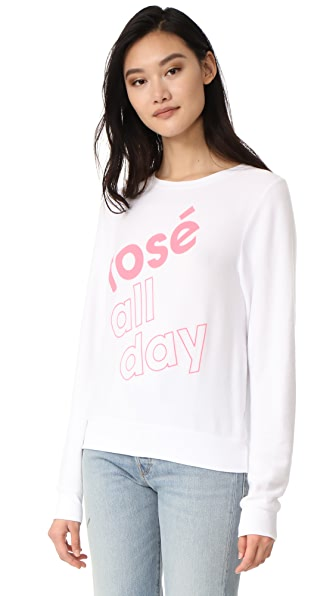 Wildfox More Rose 运动衫