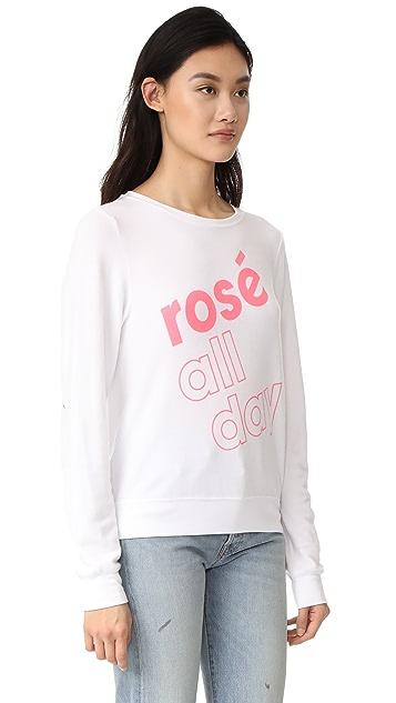 Wildfox More Rose 运动衫