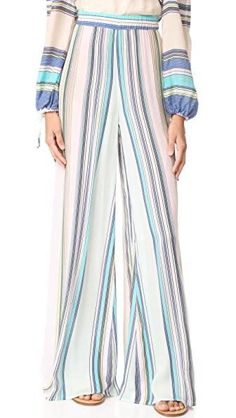 Wildfox Nikia Provenzano x Wildfox Boardwalk 条纹哈瓦那裤子