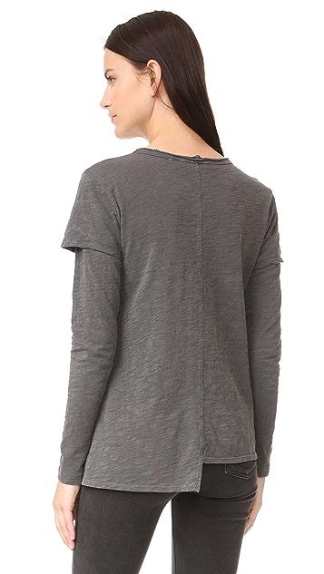 Wilt 分层衣袖圆领 T 恤