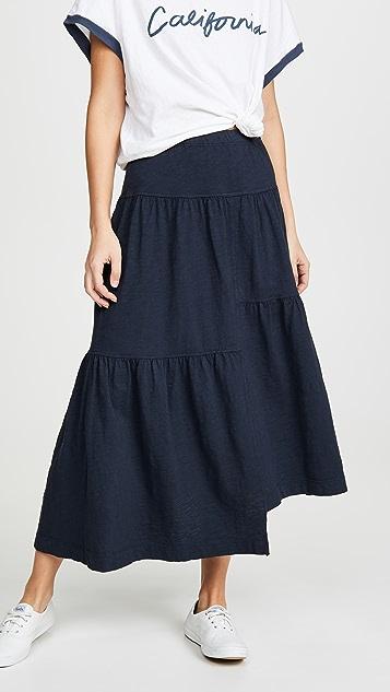 Wilt 长款层褶半身裙