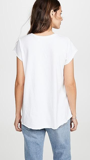 Wilt 柔软衣袖汤匙领 T 恤