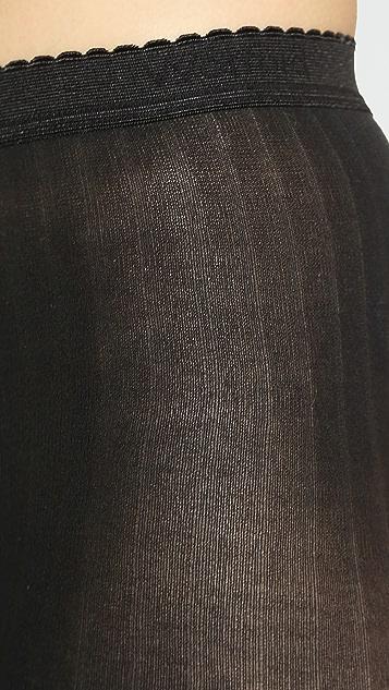 Wolford 细棉质罗纹连裤袜