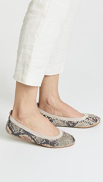 Yosi Samra Samara II 蛇纹印花平底鞋