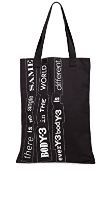 Y-3 슬로건 토트백 블랙 Y-3 Slogan Tote Bag, Black