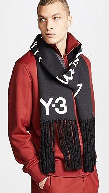 Y-3 Slogan Scarf,Black