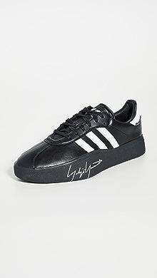 Y-3 Tangutsu Football Sneakers,Black/White/Black