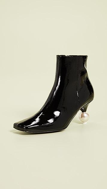 Yuul Yie 人造珍珠短靴