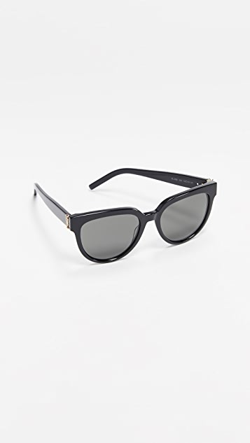 Saint Laurent SL M28 醋酸纤维塑料猫眼太阳镜