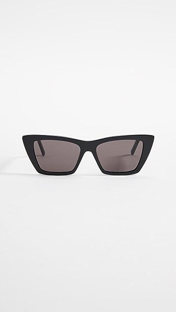 Saint Laurent 窄版猫眼太阳镜