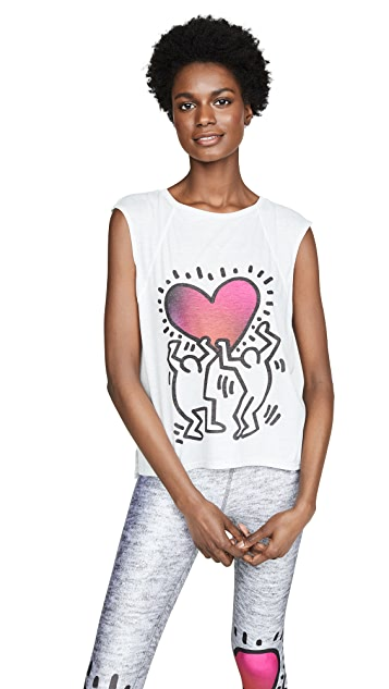 Terez Keith Haring Uplifted Heart T 恤