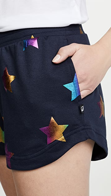 Terez 星星锡箔短裤
