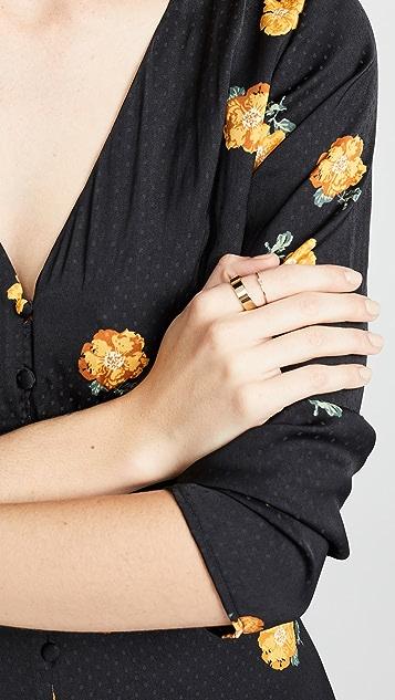 Zoe Chicco 14K 金横向钻石戒指