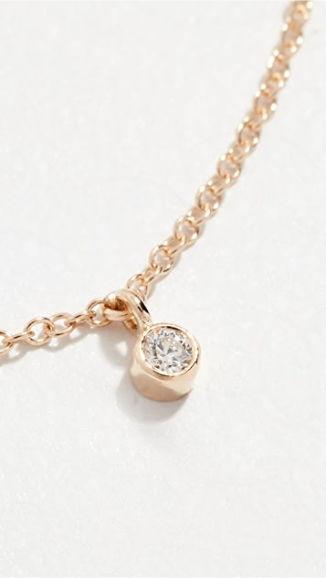 Zoe Chicco 14K 金 5 颗钻石链式短项链