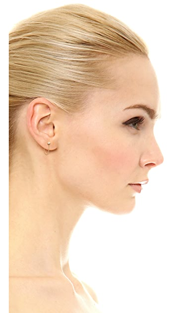 Zoe Chicco 14k 金公主切割钻石链式耳环