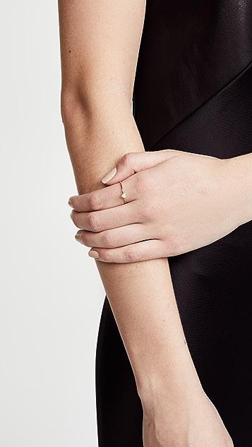 Zoe Chicco 14K 金密镶白钻单个心形戒指