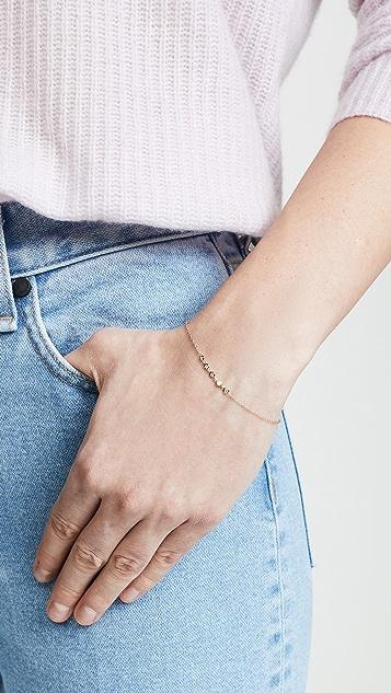 Zoe Chicco 14K 钻石浮饰手链