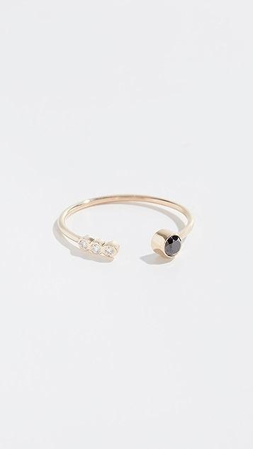Zoe Chicco 14k 开口钻石戒指