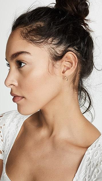 Zoe Chicco 14K 金单只小心形圈式耳环