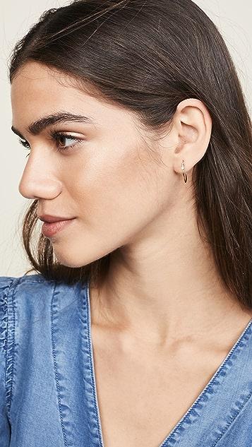 Zoe Chicco 14K 金小号圈式耳环