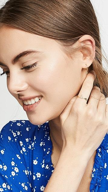 Zoe Chicco 14K 金小巧贴耳式圈式耳环