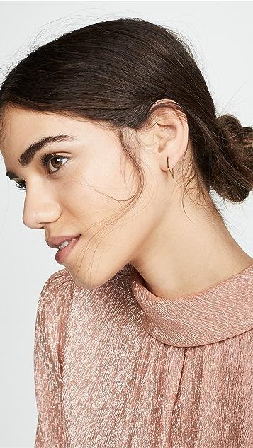 Zoe Chicco 14k 金圈式耳环