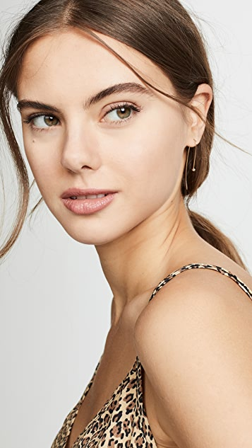 Zoe Chicco 14K 金白钻耳环