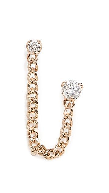 Zoe Chicco 14K 金链式钻石耳钉