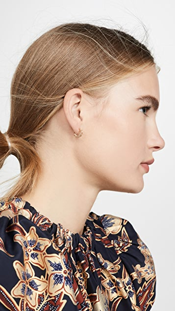 Zoe Chicco 14K 金贴耳式圈式耳环