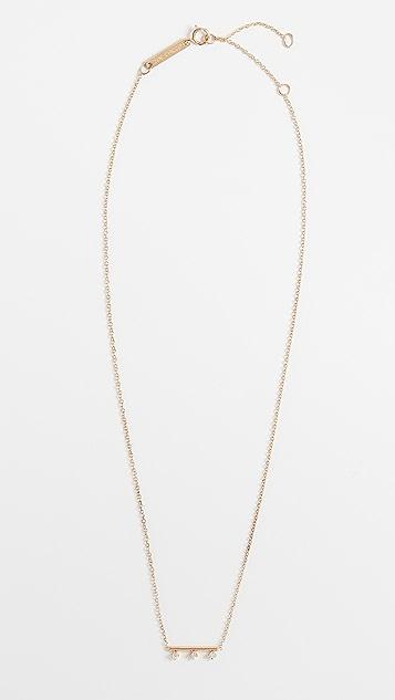 Zoe Chicco 14k 金圆形钢丝条扣项链